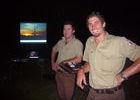 ... und die Performer. Die Ranger Nathan (li.) und Anton.