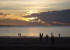 Auch wenn die Wolken einen perfekten Sonnenuntergang nicht erlauben ...